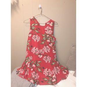 Shift Ruffle Floral Dress.